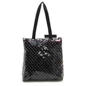 [LeSportsac]トートバッグ BOW MAGAZINE TOTE ブラック×ピンク | 世界中で愛されるハローキティとのコラボレーション商品♪