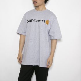 Lサイズ[CARHARTT]Tシャツ M HW S/S GRAPHIC T-SHIRT グレー | ブランドロゴがグッとコーディネイトを引き締めてくれる半袖Tシャツ!