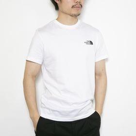 Lサイズ[THE NORTH FACE]Tシャツ M S/S SIMPLE DOME ホワイト | 幅広く着回しの効くシンプルなロゴTシャツ♪一枚は持っておきたい!