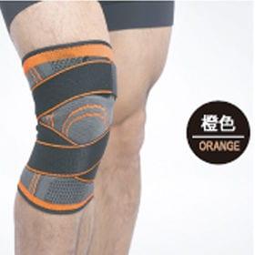 【オレンジ・M】膝サポーター スポーツ 2枚セット ベルト式...