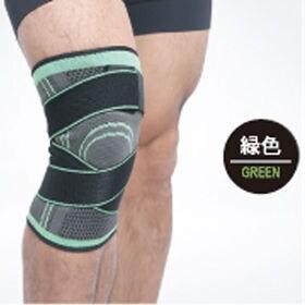 【グリーン・L】膝サポーター スポーツ 2枚セット ベルト式...