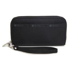 [LeSportsac]長財布 TECH WALLET WRISTLET ブラック | ランチやちょっとしたお出かけにはこれ一つでOKなリストレット付き!