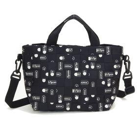 [LeSportsac]トートバッグ WOVEN LOGO MINI TOTE ブラック系 | メッシュ状に織り込んだキャッチーなデザインがお気に入り!