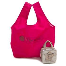 [LeSportsac]トートバッグ BOW BOX BAG AND TOTE ピンク | A4サイズも入る大きめサイズのエコバッグ!BOXポーチ付き♪