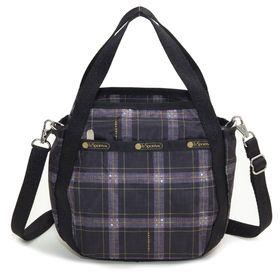 [LeSportsac]ハンドバッグ SMALL JENNI ブラック系 | ころんと丸みを帯びたルックスが可愛らしい!ハンドバッグとしても◎