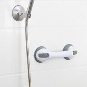 【ブラック】簡単設置でしっかり固定!浴室転倒防止どこでも手す...