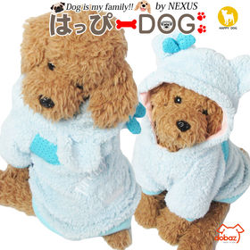 【ライトブルー/M】犬 服 犬服 犬の服 パーカー トレーナ...