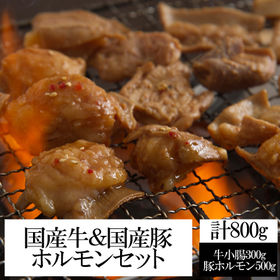 【計800g】国産牛&国産豚ホルモンセット