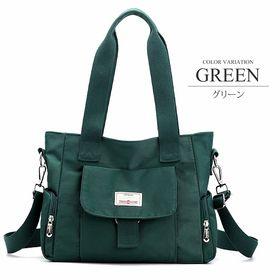 【グリーンF】2WAYキャンバスバッグ