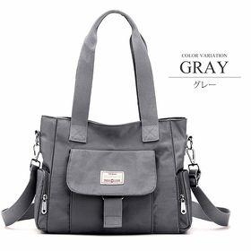 【グレーF】2WAYバッグ