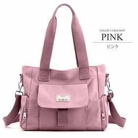 【ピンクF】2WAYキャンバスバッグ