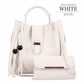 【ホワイトF】3WAYバッグ3点セット