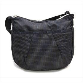 [LeSportsac]ショルダーバッグ PLEAT HOBO ブラック系 | デイリーはもちろん、旅行などのアクティブな場面にもぴったり!斜め掛けも◎