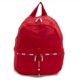 [LeSportsac]リュック TRAVEL PKABLE BACKPACK レッド | 小さく折り畳んで持ち運べるので、急に荷物が増えたときも安心♪