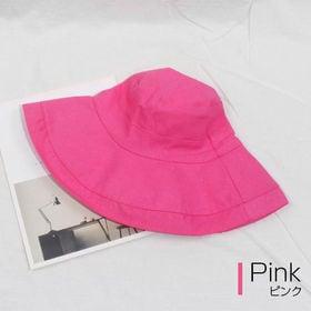 【ピンク】折りたためるUVカット帽子