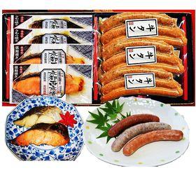 仙台名物牛たんソーセージと京都西京味噌焼魚3種7Pセット