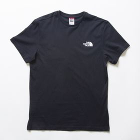 Sサイズ[THE NORTH FACE] M'S S/S SIMPLE DOME TEE ブラック | シンプルなので一枚あると幅広い活躍が期待できそう!