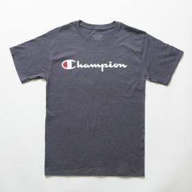 Sサイズ [Champion] M CLASSIC GRAPHIC TEE 杢ダークグレー | ユニセックスでお使いいただけるベーシックな一枚♪