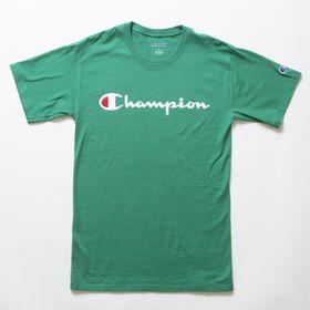 Mサイズ [Champion] M CLASSIC GRAPHIC TEE グリーン | ユニセックスでお使いいただけるベーシックな一枚♪