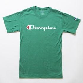 Lサイズ [Champion] M CLASSIC GRAPHIC TEE グリーン | ユニセックスでお使いいただけるベーシックな一枚♪