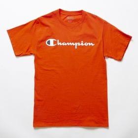 Mサイズ [Champion] M CLASSIC GRAPHIC TEE オレンジ | ユニセックスでお使いいただけるベーシックな一枚♪