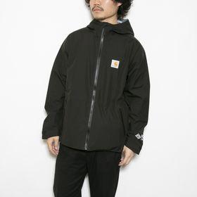 Lサイズ [CARHARTT]ジャケット GORE TEX POINT JACKET BLACK | ゴアテックスで防風・防水もばっちり!一枚は持っておきたいライトアウター!