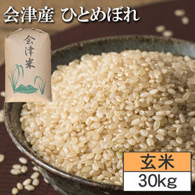 【30kg】令和2年度 福島県 会津産ひとめぼれ 玄米