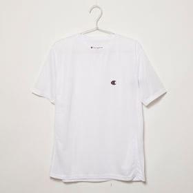 Lサイズ[Champion] 半袖TシャツM MESH S/S TEE ホワイト | 通気性の良いメッシュ生地で、スポーツウェアとしてもオススメです♪