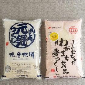 【計10kg(2種各5kg)】バナナ屋さんが選んだ米・夢つく...