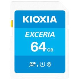 SDXCカード 64GB Kioxia UHS-I U1 100MB/S Class10