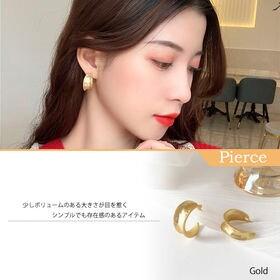 【ゴールドF】ピアス かわいい メタル フープ 大きめ 80...