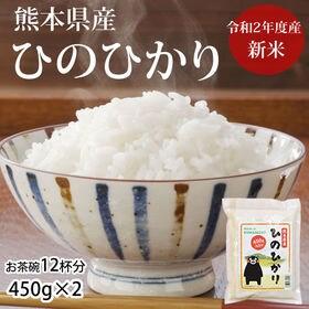 【計900g(約450g×2袋)】熊本県産ひのひかり 令和2...