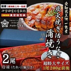 【BK-2】超特大 うなぎ 2尾入り (特製タレ・山椒付き)