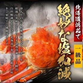 【AS-1】浜茹で ずわい蟹 1尾(1尾約750g)