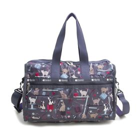 [LeSportsac]ボストンバッグ DELUXE MEDIUM WEEKENDER グレー系 | 旅行には欠かせないボストンバッグ!キャリーバーに通せるポケット付きでサブバッグとしても◎