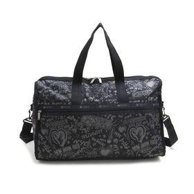 [LeSportsac]ボストンバッグ DELUXE LG WEEKENDER ブラック系 | 旅行には欠かせないボストンバッグ!キャリーバーに通せるポケット付きでサブバッグとしても◎