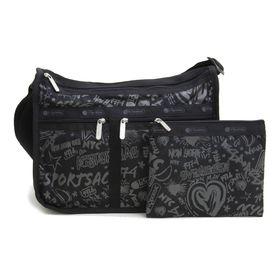 [LeSportsac]ショルダーバッグ DELUXE EVERYDAY BAG ブラック系 | 旅行やお出かけなどのアクティブなシーンにもピッタリ!外出先で急に荷物が増えても安心♪