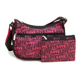 [LeSportsac]ショルダーバッグ CLASSIC HOBO ピンク×ブラック | レスポ定番のショルダーバッグ!自分好みのプリントを見つけよう♪