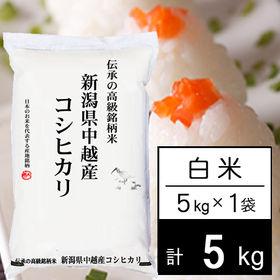 【5kg】 越後の米 令和2年産 新潟県産 コシヒカリ白米 ...