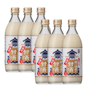 【500g×6本】造り酒屋の濃厚甘酒 [お米と米麹の甘酒 岐...
