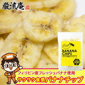 【500g】バナナチップス