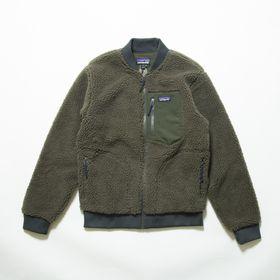 Sサイズ[patagonia]ボアジャケット M'S RETRO-X BOMBER JKT カーキ | 一枚プラスするだけで、トレンドスタイルが完成する優秀アイテム!