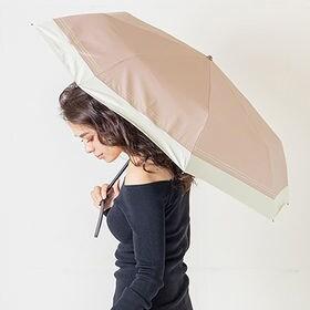 完全遮光 晴雨兼用  折りたたみ傘 makez. マケズ 55cm ラメ ピンクベージュ