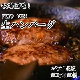 【牧場直送】 国産牛 生ハンバーグ 10個 【お中元・お歳暮...
