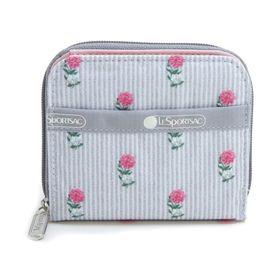 [LeSportsac] 財布 CLAIRE グレー系 | 丈夫で使い勝手の良い折り財布!豊富なカードポケットで収納力抜群♪