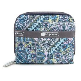 [LeSportsac] 財布 CLAIRE ブルー系 | 丈夫で使い勝手の良い折り財布!豊富なカードポケットで収納力抜群♪
