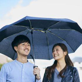 【ブラック】軸をずらした折りたたみ傘