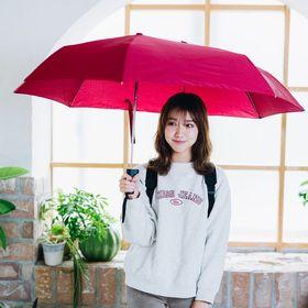 【レッド】軸をずらした折りたたみ傘