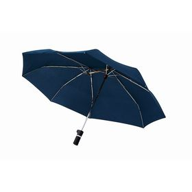 【ネイビー】軸をずらした折りたたみ傘