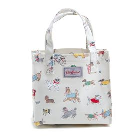 [CathKidston] トートバッグ SMALL BOOKBAG ミルキーホワイト系 | ちょっとしたお出かけにぴったりのブックバッグ!お弁当箱を入れてランチバッグとしても◎